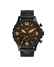 Men's Nate Black Bracelet Watch 50mm