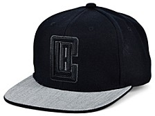 Los Angeles Clippers Black Heather Flip Snapback Cap