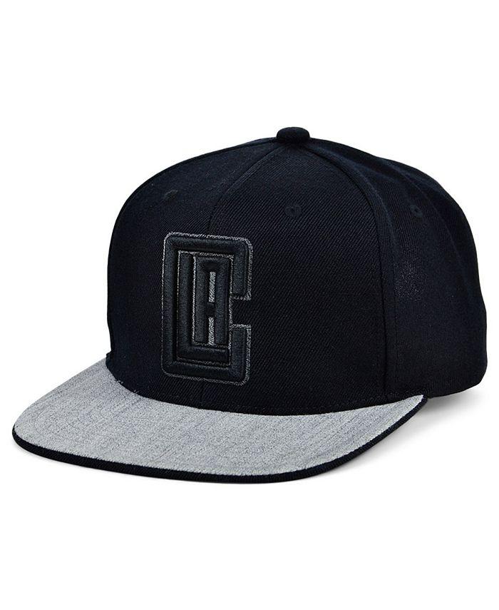 Mitchell & Ness - Los Angeles Clippers Black Heather Flip Snapback Cap