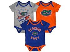Newborn Girls Florida Gators 3piece Creeper Set