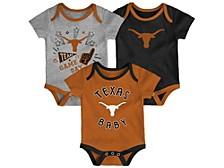 Newborn Girls Texas Longhorns 3piece Creeper Set