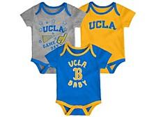 Newborn Girls UCLA Bruins 3piece Creeper Set
