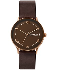 Men's Nillson Brown Leather Strap Watch 40mm