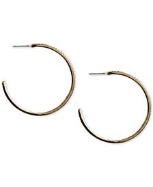"""Gold-Tone Medium Pavé C-Hoop Earrings, 2"""""""