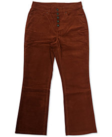 Style & Co Plus Size Button Down Corduroy Pants, Created for Macy's