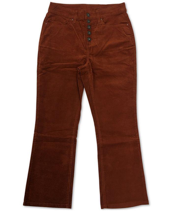 Style & Co - Plus Size Button Down Corduroy Pants