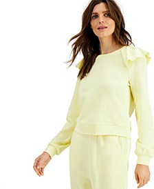 INC Ruffled Sweatshirt, Created for Macy's