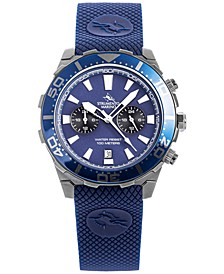 Men's Chronograph Skipper Blue Silicone Strap Watch 44mm, Created for Macy's