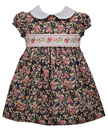 Toddler Girls Floral Ditsy Print Woven Dress