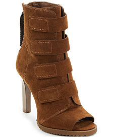 DKNY Blake Lug Sole Peep-Toe Booties