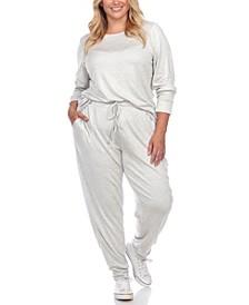 Women's Plus Size 2pc Loungewear Set