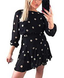Women's Spotty Pleated Skirt Dress