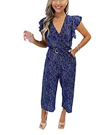 Women's Printed Wrap Jumpsuit