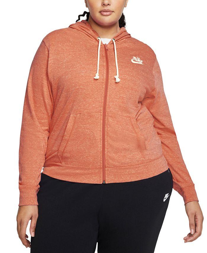 Nike - Plus Size Sportswear Gym Vintage Zip Hoodie