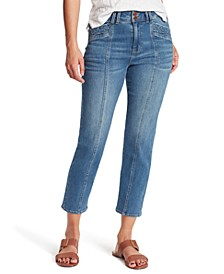 Seamed Cropped Jeans