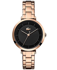 Women's Geneva Carnation Gold Steel Bracelet Watch 32mm