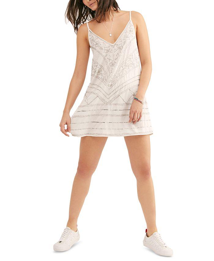 Free People - Make A Move Mini Slip Dress