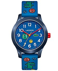 Kid's 12.12 Blue Printed Silicone Strap Watch 32mm