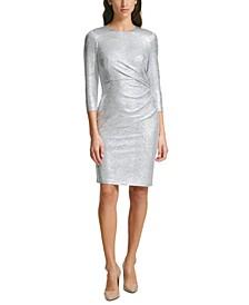 Petite Metallic Bodycon Dress