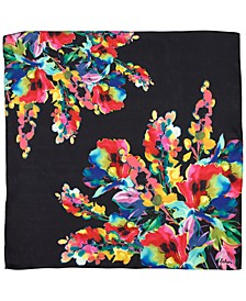 Water Floral Square Scarf