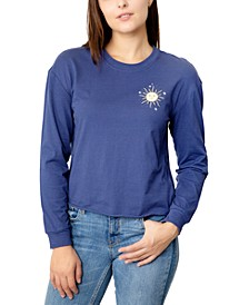 Juniors Celestial Back Graphic Print Cotton Top