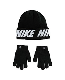 Big Boys Beanie and Gloves Set
