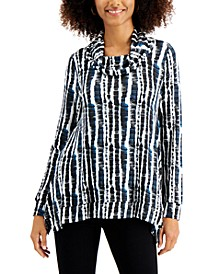 Printed Cowlneck Tunic