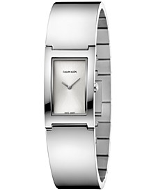 Women's Polish Stainless Steel Bangle Bracelet Watch 22mm