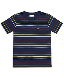 Big Boys Short Sleeve Striped Cotton T-shirt
