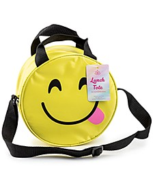 Insulated Lunch Bag, Figural Smiley