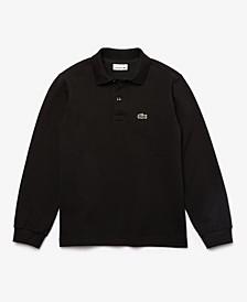 Little Boys Classic Long Sleeve Cotton Petit Pique Polo Shirt
