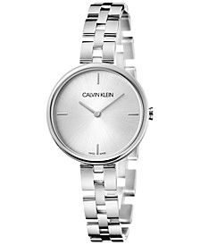Women's Elegant Stainless Steel Bracelet Watch 32mm