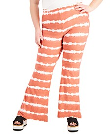Trendy Plus Size Tie-Dyed Flare-Leg Pants