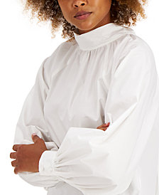 INC Cotton Bow-Back Blouse, Created for Macy's