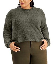 Trendy Plus Size Bubble-Sleeve Sweater