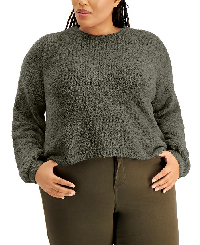 FULL CIRCLE TRENDS - Trendy Plus Size Bubble-Sleeve Sweater