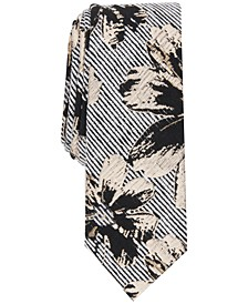 INC Men's Floral Stripe Tie, Created for Macy's