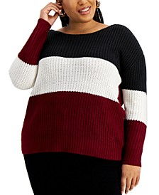 Trendy Plus Size Reversible Twisted Sweater