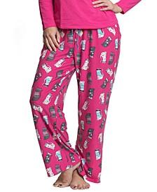 Plus Size Printed Pajama Pants