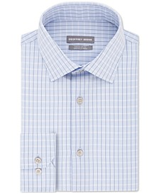 Men's Classic/Regular Fit Non-Iron Dress Check Dress Shirt