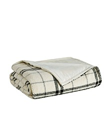 Popcorn Plaid Plush Blanket, Full/Queen