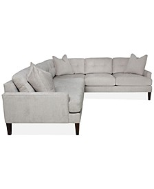 """Raevan 96"""" 2-Pc. Fabric Sectional, Created for Macy's"""