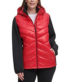 Plus Size Hooded Jacket