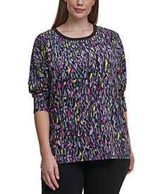 Calvin Klein Performance Plus Size Printed Top