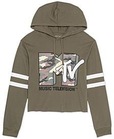 Juniors' Cropped MTV-Graphic Hoodie