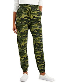 Juniors' Paper-Bag Waist Jogger Pants