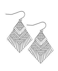 Kite Drop Earring in Fine Silver Plate