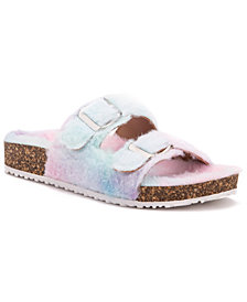 Olivia Miller Women's Stephy Furry Casual Slide Sandals