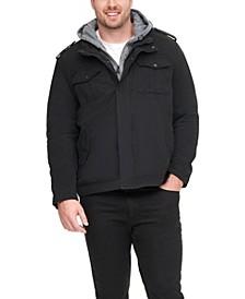 Men's Big & Tall Sherpa Lined Two Pocket Hooded Trucker Jacket