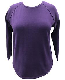 Plus Size Cotton Curved-Hem Top, Created for Macy's